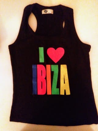 Camiseta de tirantes negra IBIZA