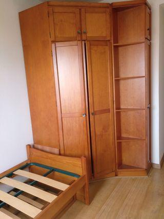Dormitorio completo, 2 camas y armario