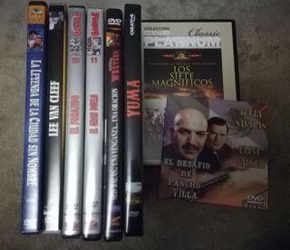 Cine del Oeste, Lote de 8 DVD's