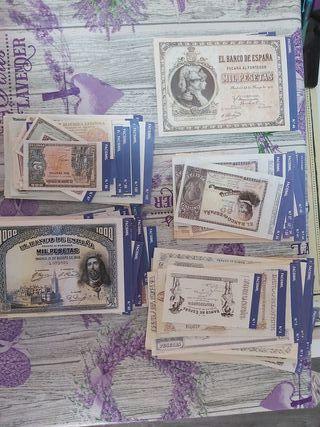 Billetes FACSIMIL (HISTORIA DE LA PESETA)
