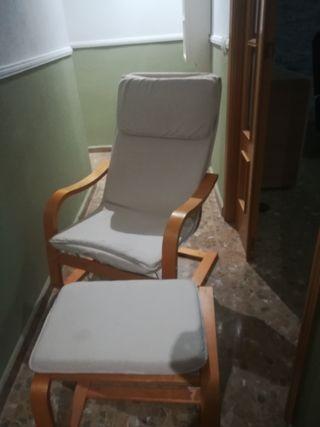 sillón con reposapies