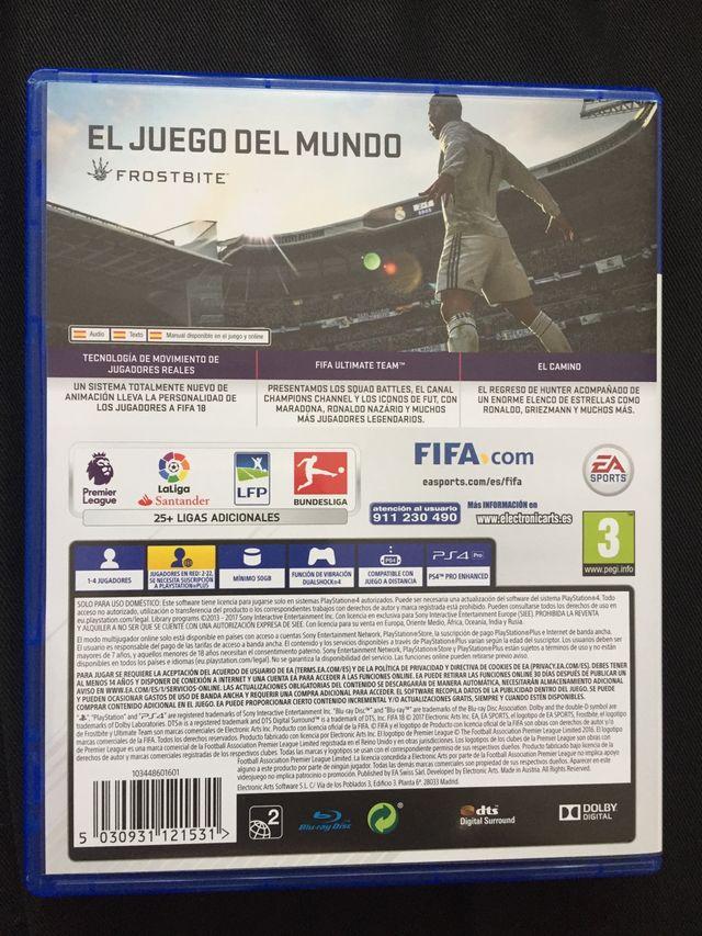 Juego PS4 Fifa 18