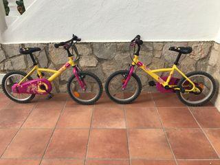 "Bicicletas niñ@s 16"""