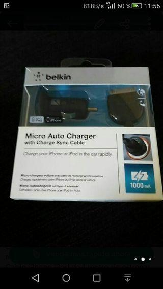 Cargador Belkin y cable iphone