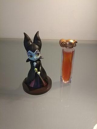 Miniatura perfume Organza y muñequita Maléfica.