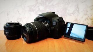 Canon EOS 700D + 3 Objetivos + Extras