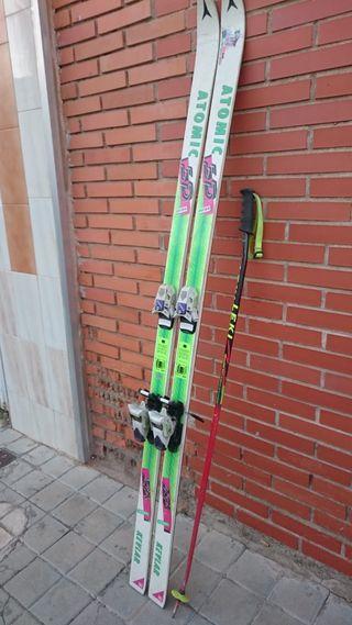 Juego de esquís como nuevos!!!