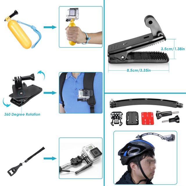 Pack kit set maletin accesorios gopro nuevo