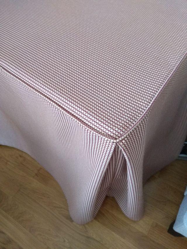 falda para mesa camilla cuadrada