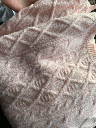 Camisa rosa lana
