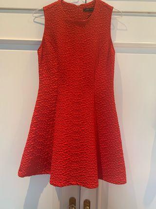 Vestido mini rojo zara