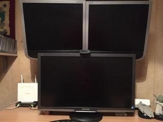 Monitores PC + Mástil 4 brazos