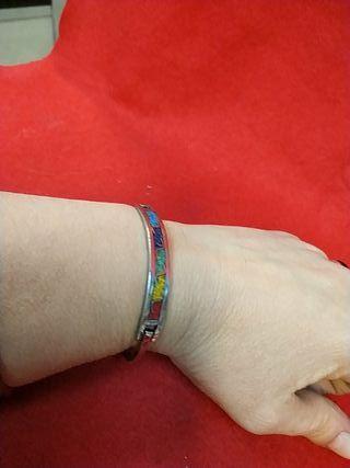 pulsera de plata brazalete