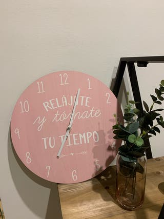 Reloj pared rosa nordico decoracion