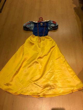 vestido de Blanca Nieves. talla 10