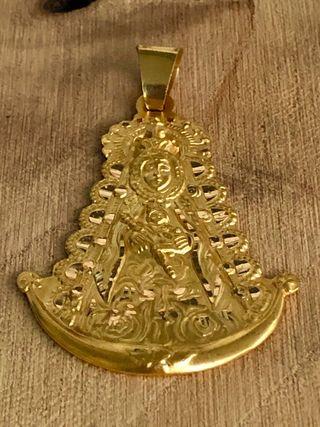 Virgen del rocio oro 18 kts