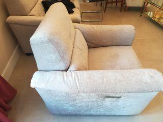 sillón relax Natuzzi a estrenar tapizado en tela