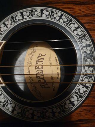 Guitarra electroacústica con funda rígida
