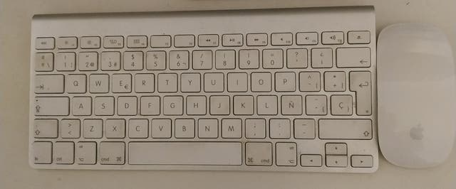 Teclado + ratón inalámbrico MAC