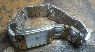 Reloj Viceroy quartz acero y oro. Funcionando.