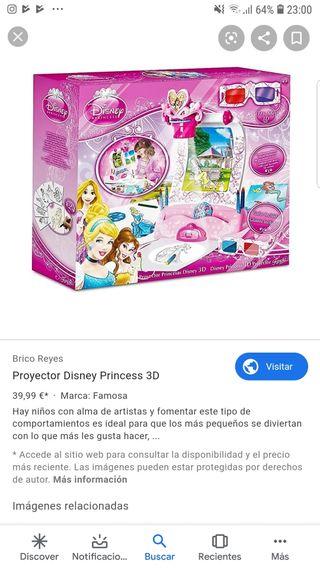 Proyector princesas Disney 3D