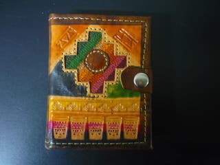 Libreta artesanal de cuero - Arte peruano