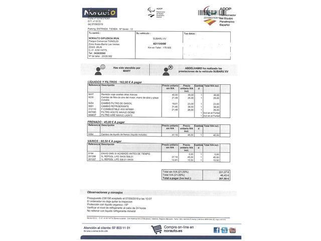 Subaru XV 2.0D Executive 108kW (147CV)