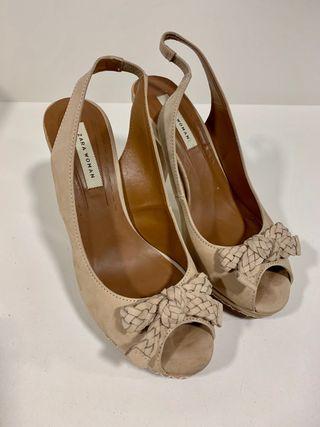 Zapatos tacón piel Zara T 37