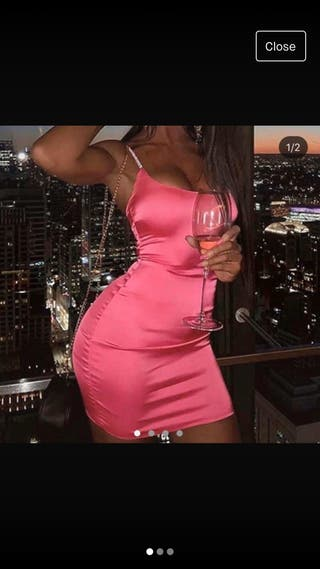 Neon pink bodycon