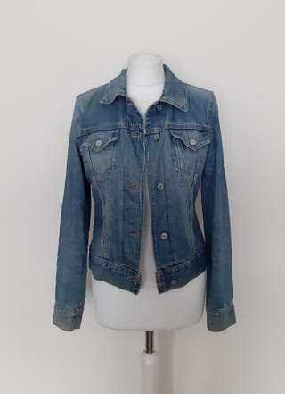 Gap 1990's vintage dark blue denim/jean jacket sma