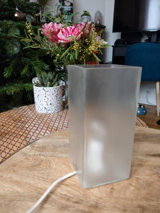 Lampe chevet Ikea en verre