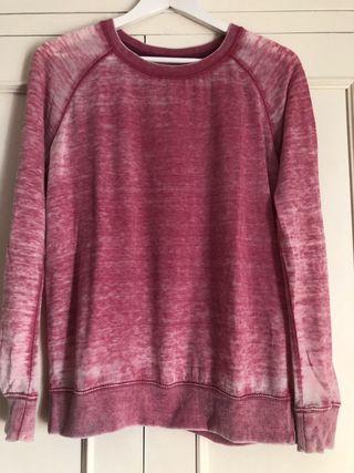 Sudadera fina rosa Zara