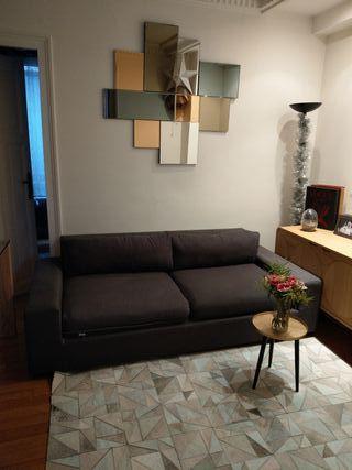 Canapé lit 3places AMPM gris chiné