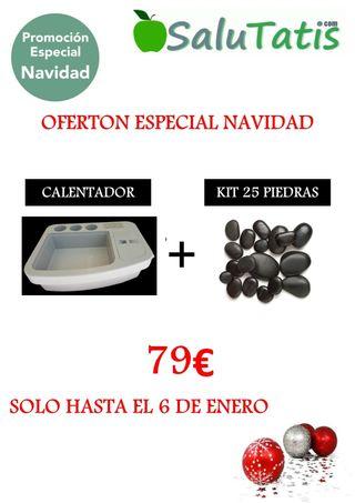 CALENTADOR DE PIEDRAS + KIT 25 PIEDRAS!! PROMOCION
