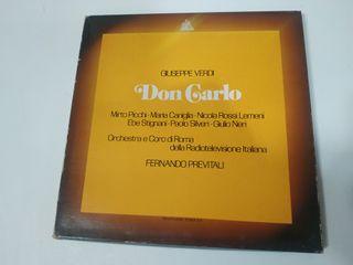 4 Discos de Vinilo Giuseppe Verdi - Don Carlo