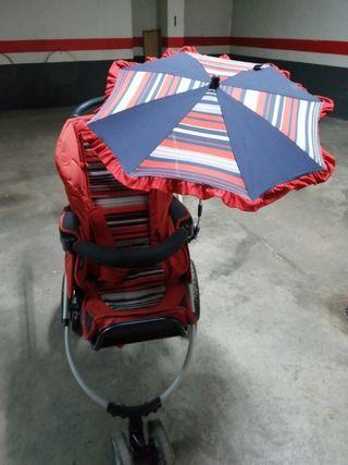 carrito de silla de paseo y con capazo bebecar