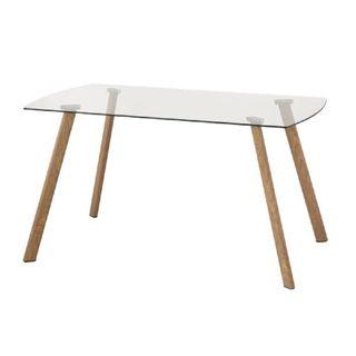 Mesa comedor, BASILEA mesa de cristal y madera