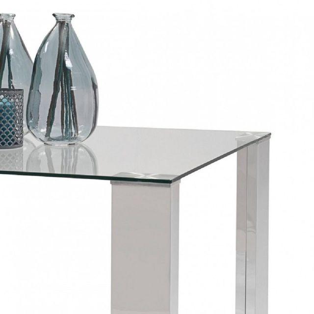 Mesa comedor DRESDE,con base de cristal retangular