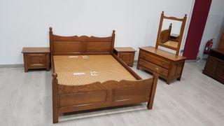 Dormitorio Rustico de Roble Macizo