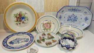 Platos de cerámica antiguos