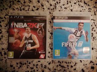 Fifa '19 y NBA 2K17