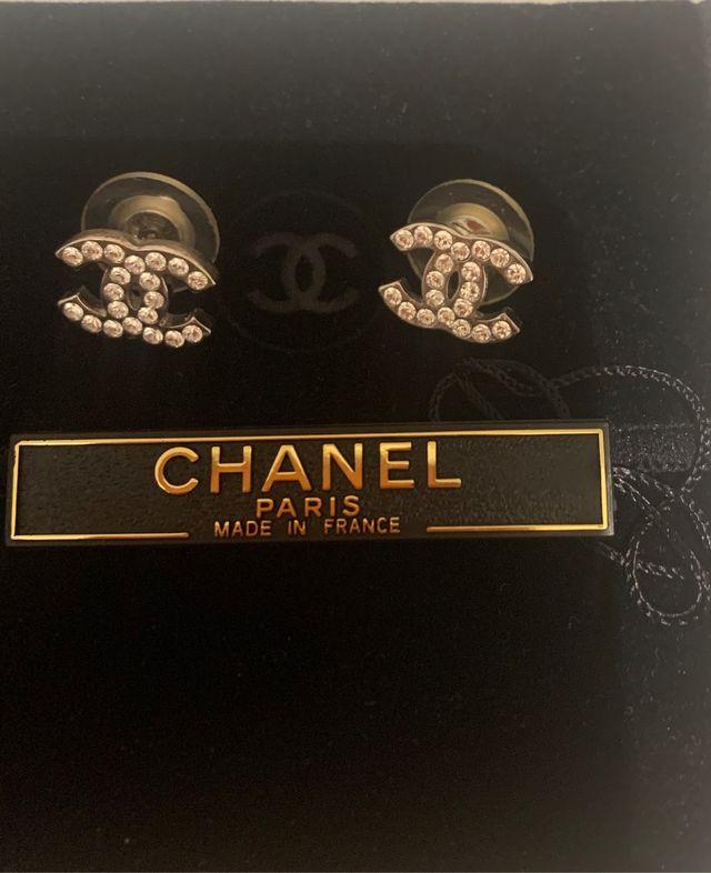 Chanel pendientes originales strass