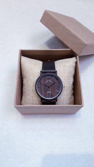Reloj pulsera de efecto madera hombre mujer