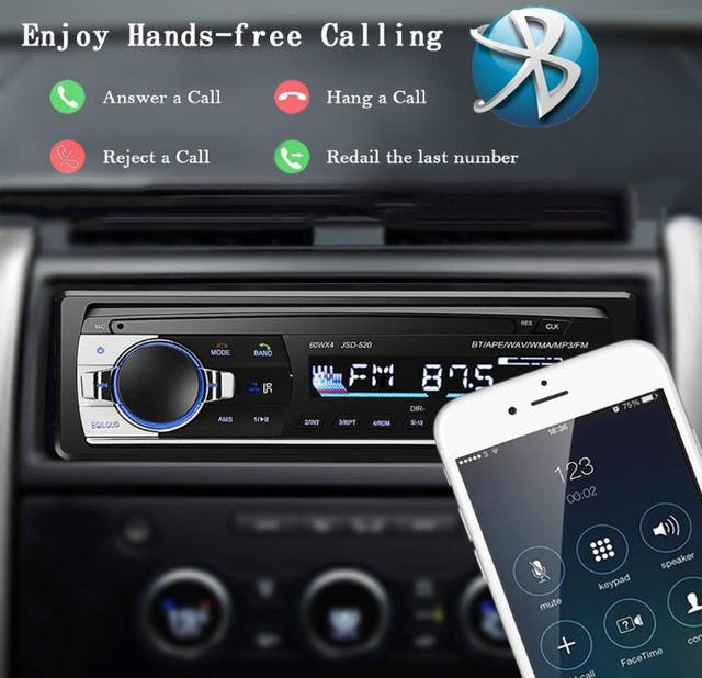 Autoradio Bluetooth,4×60W Manos Libres Radio coche