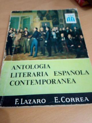 Antología literaria española contemporánea, libro