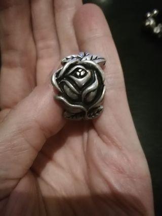 anillo de plata vieja, antiguo.