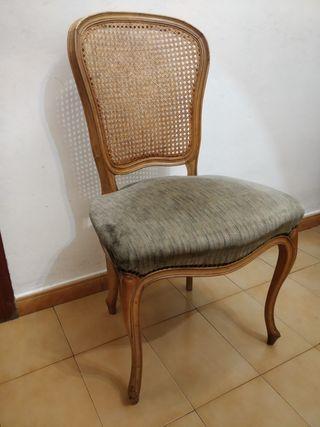 Sillas antiguas / sillas rejilla / sillas madera