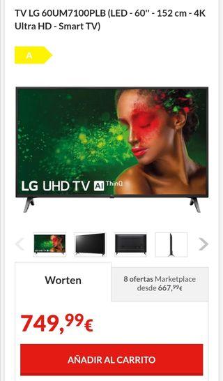 tv lg 60 pulgadas nueva en su caja 4K