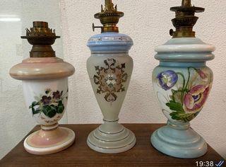 Quinqué Lámparas Antigüedades