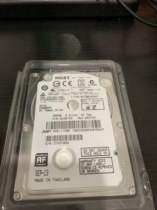 Disco duro mecánico 500gb